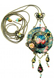Michal Negrin Roses Circle Necklace