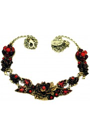 Michal Negrin Red New York Roses Necklace