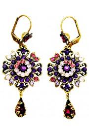 Michal Negrin Purple Oriental Earrings