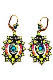 Michal Negrin Antique Multicolor Swirl Earrings