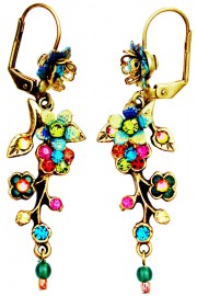 Michal Negrin Multicolor Cherry Blossom Earrings