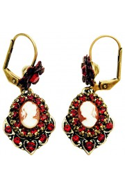 Michal Negrin Red Woman Cameo Earrings