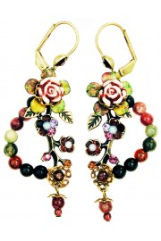 Michal Negrin Natural Stones Floral Earrings