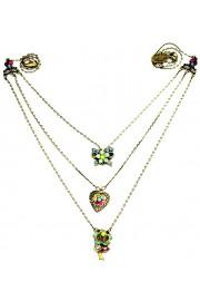 Michal Negrin Multicolor Multi Chain Necklace