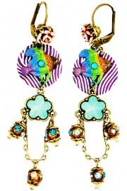 Michal Negrin Fish Orbs Earrings