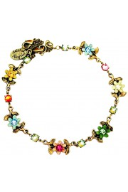 Michal Negrin Multicolor Floral Anklet