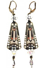 Michal Negrin Victorian Triangle Earrings