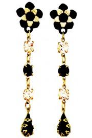 Michal Negrin Black Peach Post Earrings