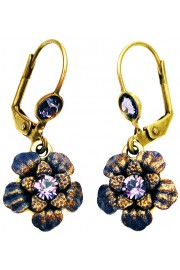Michal Negrin Violet Flower Earrings