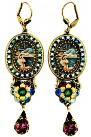 Michal Negrin Swimmers Kiss Crystal Drop Earrings