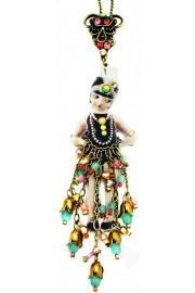 Michal Negrin Flapper Girl Pendant Necklace