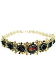 Michal Negrin Black Crystal Lace Headband