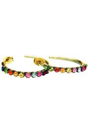 Michal Negrin Multicolor Row Hoop Earrings