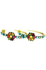 Michal Negrin Multicolor Hoop Earrings