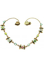 Michal Negrin Sea Green Pastel Flowers Necklace