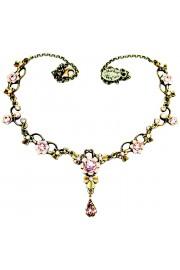 Michal Negrin Lilac Aurora Borealis Ornate Necklace