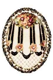 Michal Negrin Victorian Roses Cameo Brooch