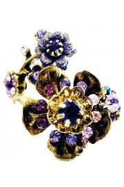 Michal Negrin Purple Wild Flowers Spiral Ring