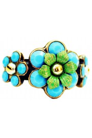 Michal Negrin Matte Turquoise Green Ring