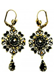 Michal Negrin Black Bronze Oriental Earrings