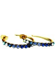 Michal Negrin Blue Swirl Row Hoop Earrings