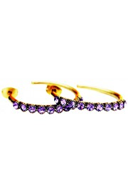Michal Negrin Purple Row Hoop Earrings