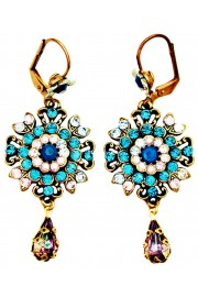 Michal Negrin Turquoise Lilac Oriental Earrings