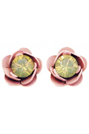 Michal Negrin Icy Cream Pink Rose Stud Earrings