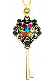 Michal Negrin Multicolor Key Necklace