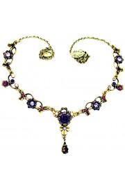 Michal Negrin Purple Swirl Ornate Necklace