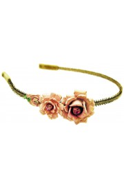 Michal Negrin Pink Roses Headband
