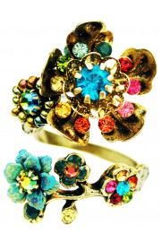 Michal Negrin Multicolor Wild Flowers Spiral Ring
