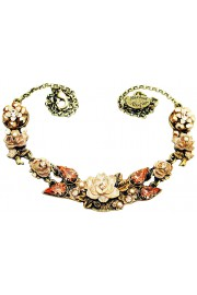 Michal Negrin Peach New York Roses Necklace