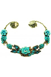 Michal Negrin Turquoise New York Roses Necklace
