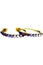 Michal Negrin Purple Swirl Row Hoop Earrings