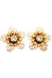 Michal Negrin Nude Anemone Stud Earrings