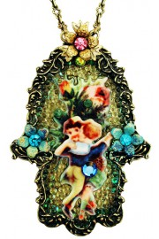 Michal Negrin Friendship Hamsa Necklace