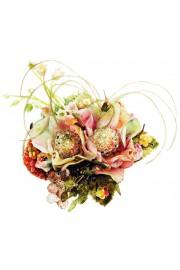 Michal Negrin Vintage Roses Crystals Brooch