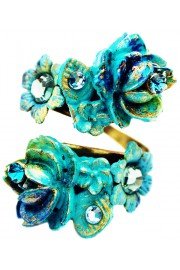 Michal Negrin Turquoise Roses Spiral Ring