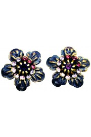 Michal Negrin Purple Anemone Stud Earrings