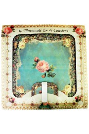 Michal Negrin Roses Placemats and Coasters Set