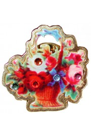 Michal Negrin Basket of Roses Pin