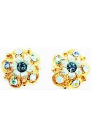 Michal Negrin Sea Green Aqua Stud Earrings
