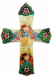 Michal Negrin Victorian Roses Wall Decor Large Cross