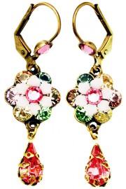 Michal Negrin Pastel Pink Teardrop Earrings