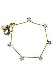 Michal Negrin Purple Green Starflowers Anklet