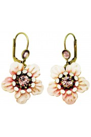 Michal Negrin Lilac Icy White Anemone Earrings