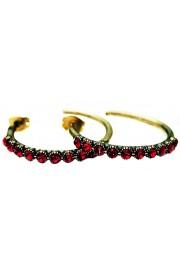 Michal Negrin Red Row Hoop Earrings