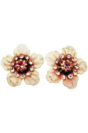 Michal Negrin Pink Anemone Stud Earrings