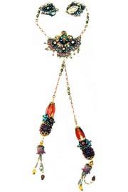 Michal Negrin Bronze Pendant Drops Necklace